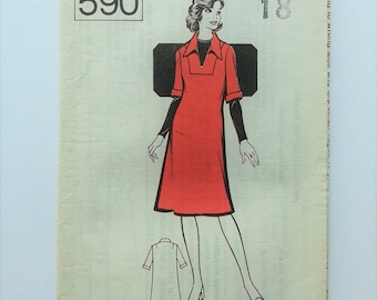 Vintage Sewing Pattern day dress 60s The Sunday People Pattern No. 590 Size 18/bust 40 FF