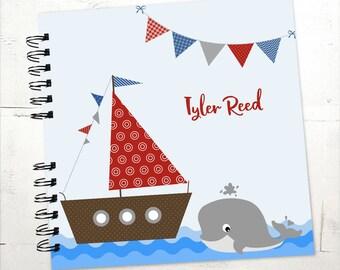 Baby Book    Baby Memory Album   Baby Memory Book, Nautical Wire Bound