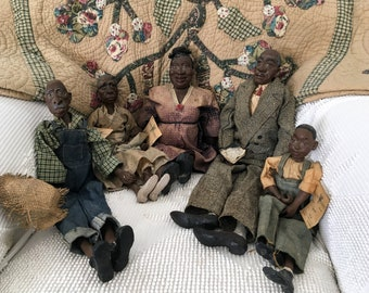 1990's Family of Five Daddy's Long Legs Dolls Designed by Karen Germany