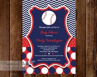 Baseball Baby Shower Invitation, Baseball Invitation, Baseball Invite, Baseball Shower Invitation, Baseball Party, Allstar Invitation, Sport
