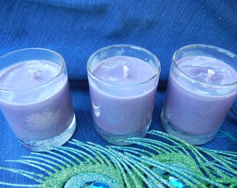 Witching Hour Scented Soy Votive Candles Set of Three Purple