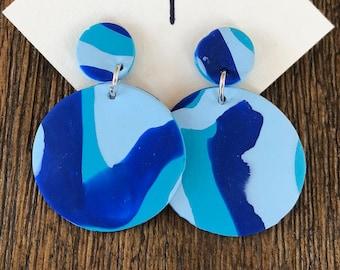 Blue Blend Statement Earrings