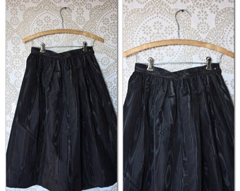 Vintage Black A line Skirt Small
