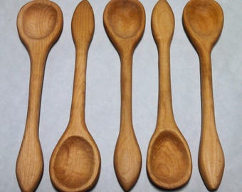 Carved Maple cooking/serving spoon