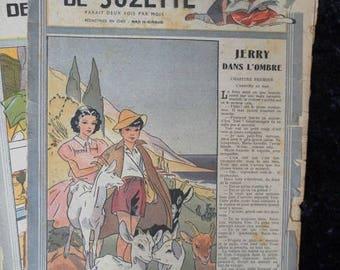 1946 - 48, Bleuette, sewing patterns, antique doll patterns, la semaine de suzette 10 numbers - FRENCH LANGUAGE(ref 187)