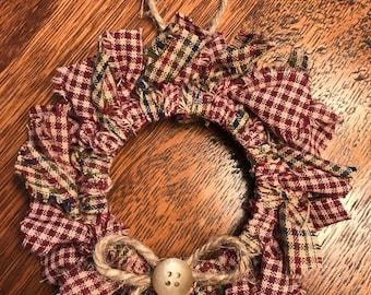 Homespun Wreath Ornament