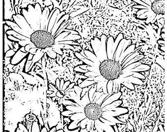 Color Me Daisy Group (notecard) 5.5 x 4.25