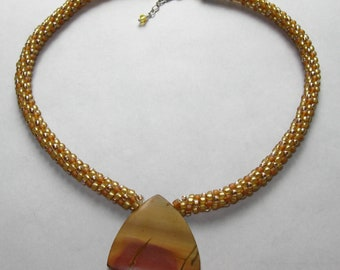 Desert Sands Kumihimo Necklace