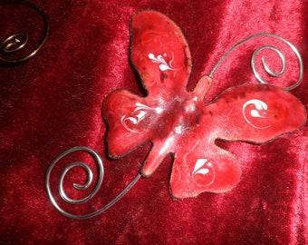 Butterfly in enamels on copper