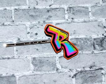 Graffiti Initial Bobby Pin by beebles