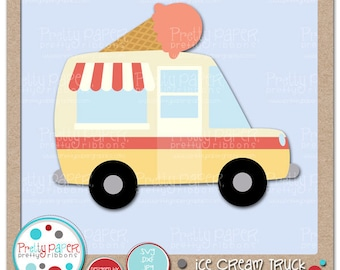 Ice Cream Truck Cutting Files & Clip Art - Instant Download