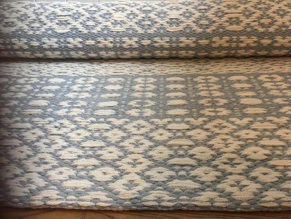 Blue White Scandinavian 5x7 Rug Runner Kitchen Rugs Gray