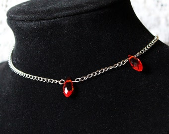 Vampire Bite Blood Drops Choker Necklace