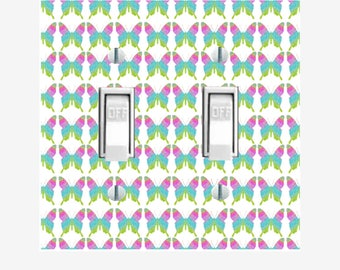Colorful Butterflies light switch cover for girls bedroom