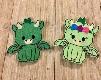 Sparkly Dragon Finger Puppet Pair
