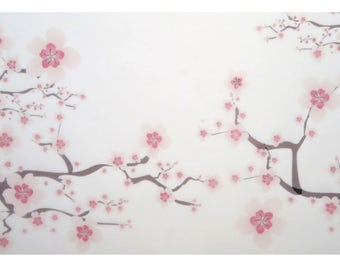 30 sheets 21x15cm Cherry Sakura Flower Greaseproof Oil Wax Food Wrapping Papers