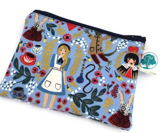 Coin Purse - Coin Bag - Change Purse - Small Cosmetic Bag - Zipper Pouch - Change Pouch in Rifle Paper Co Wonderland