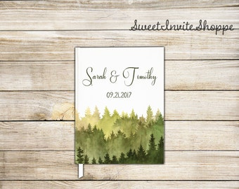 Wedding Guest Book, Wedding Guestbook, Mountain Wedding Guestbook, Mountain Guest Book, Wedding Keepsake, Forest Wedding, Wedding Gift