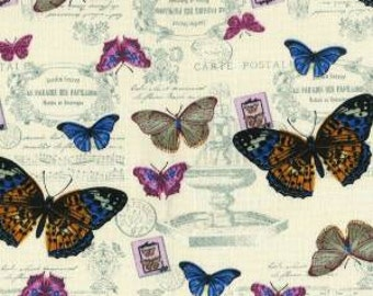 Shabby Chic Fabric - 100% Cotton Canvas Fabric - Dressmaking Fabric - Crafting Sewing Supplies - Country Chic - Vintage Fabric Sewing