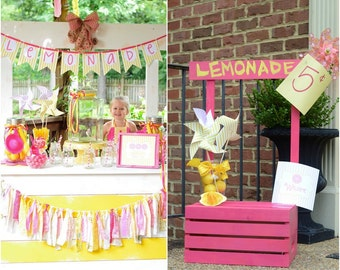 Lemonade Birthday, Lemonade Birthday Decorations, Lemonade Party, Printable, DIY