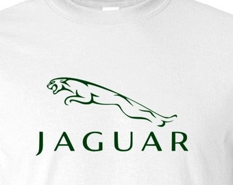 JAGUAR RACING T-Shirt   S,M,L,XL. White, Ash Grey  100% Cotton