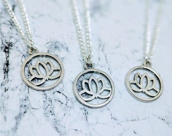 Lotus Necklace | Lotus Flower Jewelry | Lotus Flower Jewellery | Lotus Flower Necklace | Lotus Flower | Valentines Day | Valentines Gift