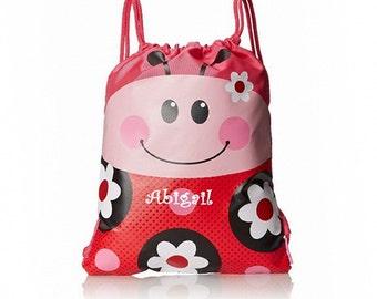 Personalized Ladybug Drawstring Bag