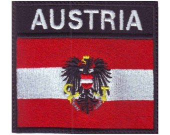 Austria Badge Flag Embroidered Patch
