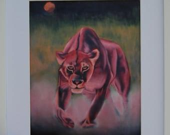 Lion, Lioness, The Hunter