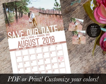 Custom Calendar Save the Date