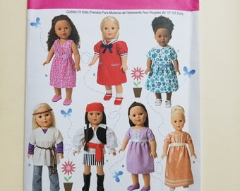 Simplicity Doll Clothing Pattern  #1344