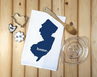 New Jersey State Flour Sack Towel, New Jersey State Tea Towel, Flour Sack Tea Towel, Housewarming Gift, Wedding Gift, Personalized towels