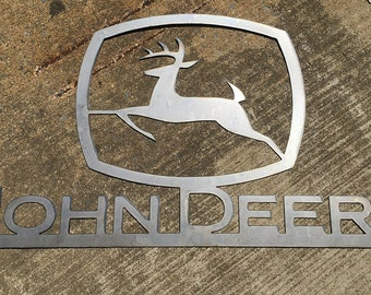 "42"" John Deere Metal Wall Sign"