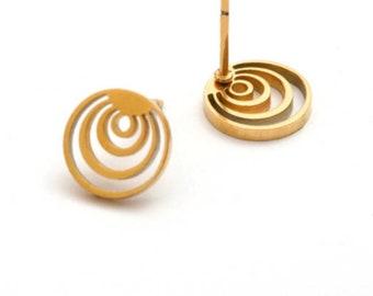 Hoop studs gold hoop earrings stud earrings circle stud earrings circle earrings circle studs hoop post earrings circle geometric hoop studs