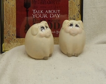 Vintage Cute Little Piggies Ceramic Salt and Pepper Shakers,NEW LISTING!!!, #VB7233