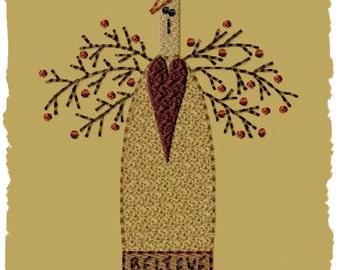 Primitive Machine Embroidery Design-Sara--Version 1--(4x4)-INSTANT DOWNLOAD