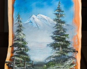 The Quiet Path. FREE SHIPPING World Wide.Original oil painting on hardwood. wood. Oil painting. Nature. Landscape.