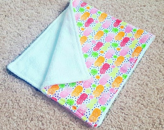 Baby easter gift etsy pineapple burp cloth baby shower gift baby girl shower baby easter gift negle Choice Image