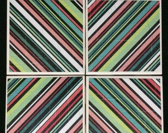 Colorful Stripe Coasters