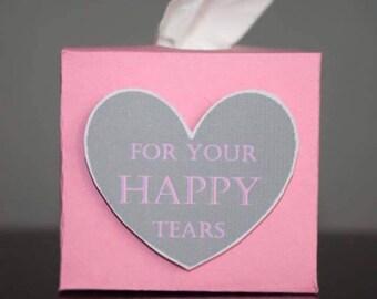 3D Happy Tears Wedding Favour favor tissues