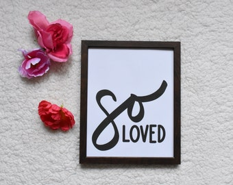 so loved, hand drawn Typography Digital Art Download