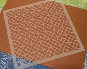 Square 8.5 x 8.5 inch stencil - Circle / Lacy Pattern