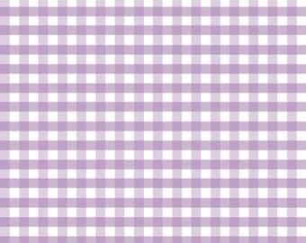1/3 inch Lavender Gingham
