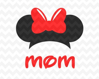Minnie Mouse mom SVG Instant Download Minnie Mouse Head Vector Minnie Mouse Cut File, Minnie Mouse for Silhouette and  Cricut