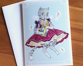 Fancy Kitten Greeting Card