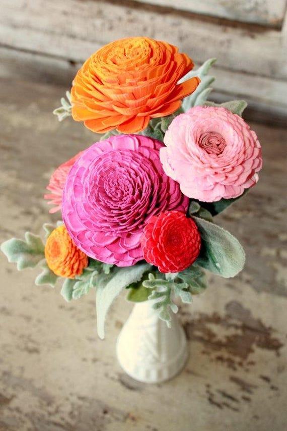 Sola flower bouquet sola wood flower centerpiece home decor