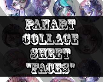 PanArt Digital Collage Sheet - Faces