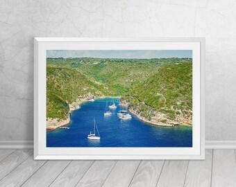 Bay of Bonifacio, CorsicaI, France, Landscape, Nature, Photography, Downloadable Art, Printable Art, Modern Home Decor,