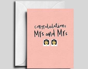 Mrs and Mrs Gay / Lesbian Wedding Card