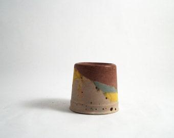 Little Vessel/Tea light holder with Muted Tones